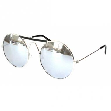 Zilveren festival bril met een zilver montuur