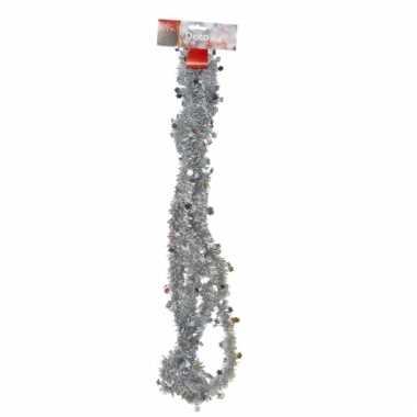 Zilveren folieslinger met sterretjes