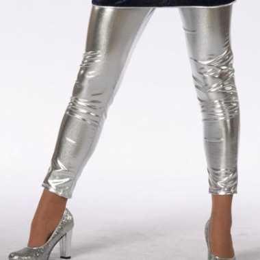 Zilveren glimmende kinder legging