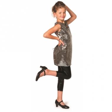 Zilveren glitter jurk meiden