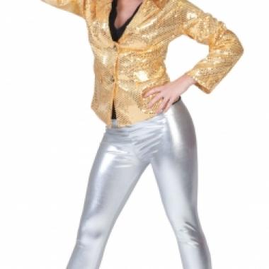 Zilveren glitter legging