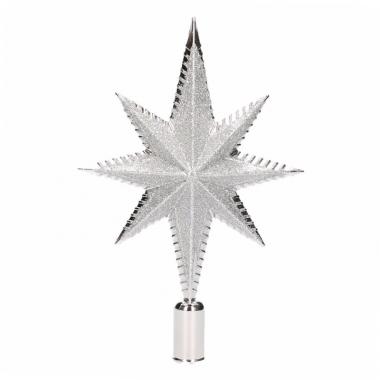 Zilveren kerstversiering piek 19cm