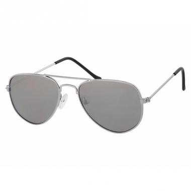 Zilveren kids piloten zonnebrillen model 3000