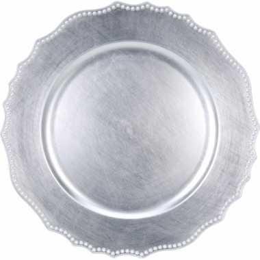 Zilveren onderbord voor kaarsen 33 cm