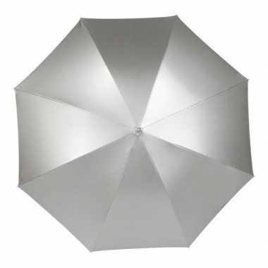 Zilveren paraplu 105 cm