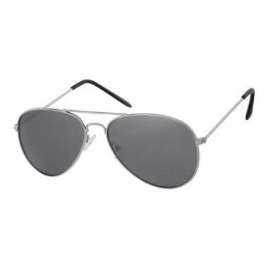 Zilveren piloten zonnebrillen voor kids