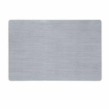 Zilveren placemat van kunststof 43 x 28 cm