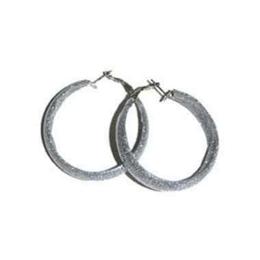 Zilveren ronde dames oorbellen