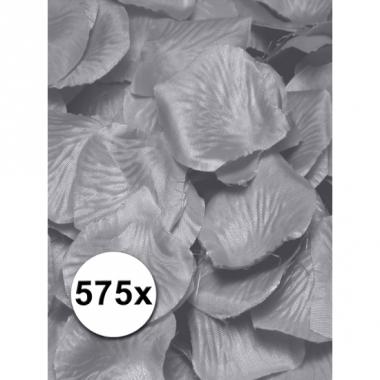 Zilveren rozenblaadjes van stof 575 st