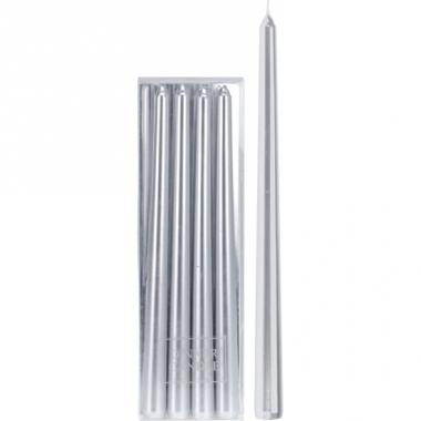 Zilveren tafelkaarsen 30 cm