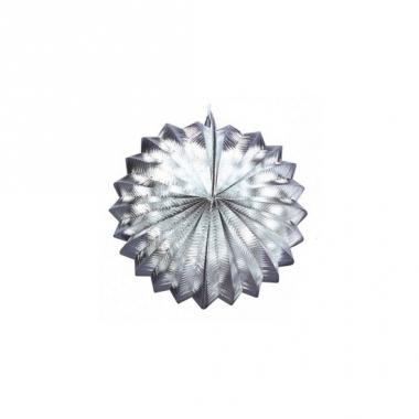 Zilveren versiering lampion 22 cm