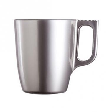 Zilverkleurige koffiemok 250 ml