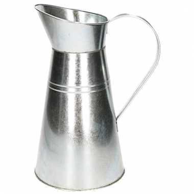 Zinken vaas kruikvorm 33 cm