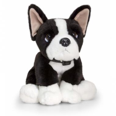 Zittende boston terrier hond pluche 35cm