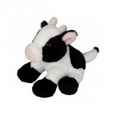 Zittende koeien knuffel 15 cm