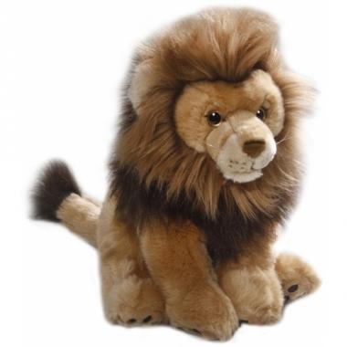 Zittende leeuwen knuffel 30 cm