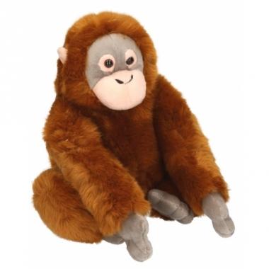 Zittende pluche aap knuffel 25 cm