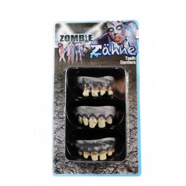 Zombie gebit grijs 3 stuks