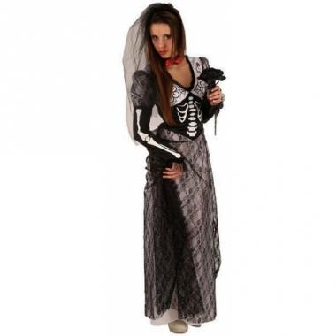 Zombie jurk zwart voor volwassenen