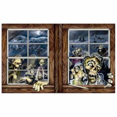 Zombie muurversiering 96 x 157 cm