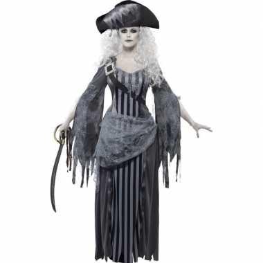 Zombie piraat verkleedkleding voor dames