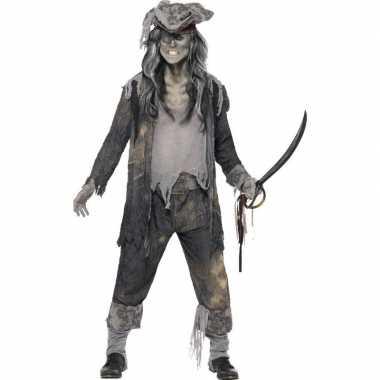 Zombie piraat verkleedkleding voor heren
