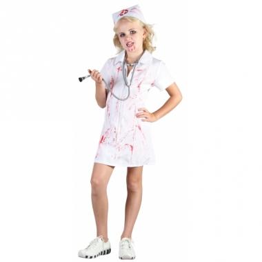 Zombie zuster kinder kostuum