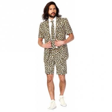 Zomer pak jaguar print voor heren