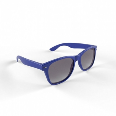 Zonnebril met kunststof blauw montuur