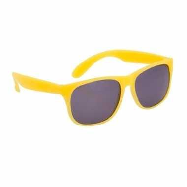 8aa340633e6fe6 Zonnebril met kunststof geel montuur