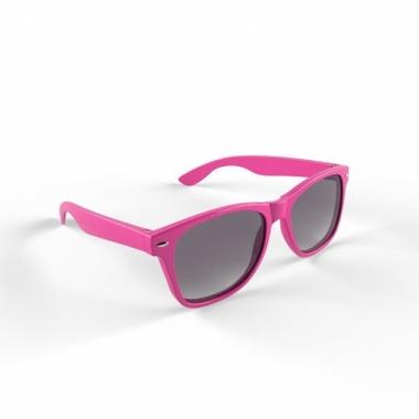 Zonnebril met kunststof roze montuur