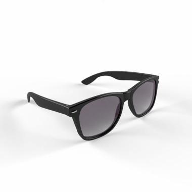 Zonnebril met kunststof zwart montuur