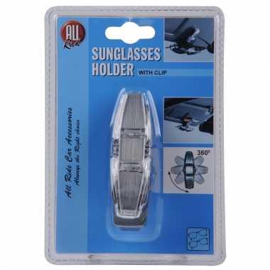 Zonneschermklem voor 2 zonnebrillen
