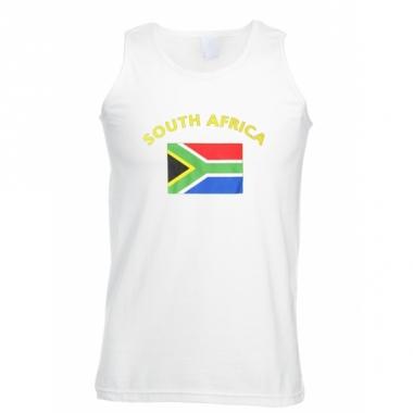 Zuid-afrika vlaggen tanktop/ t-shirt