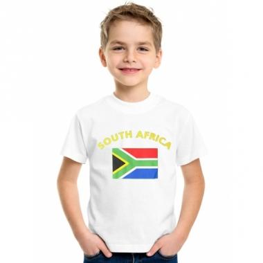 Zuid-afrikaanse vlaggen t-shirts voor kinderen