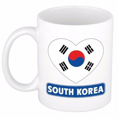 Zuid koreaanse vlag hart mok / beker 300 ml