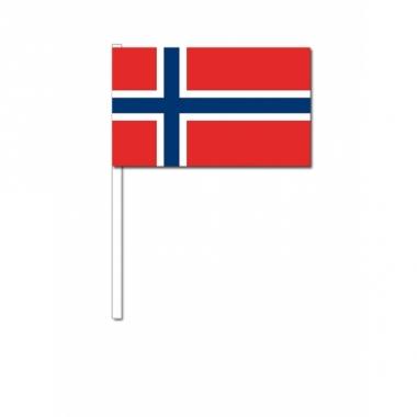 Zwaaivlaggetjes noorweegse vlag