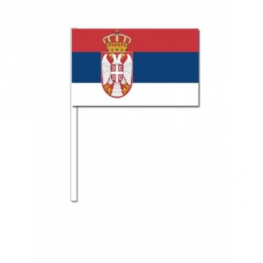 Zwaaivlaggetjes servische vlag