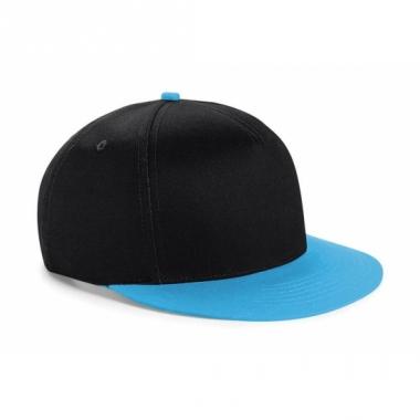 Zwart/blauwe retro baseball cap voor kinderen