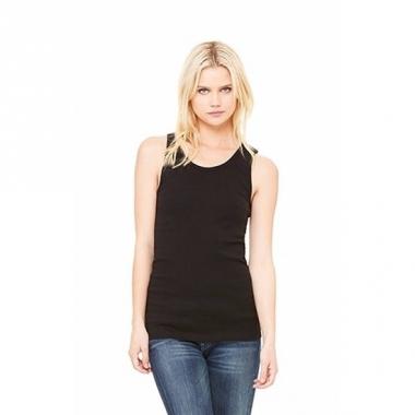 Zwart dames shirt zonder mouwen