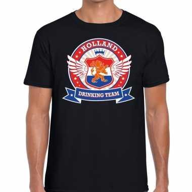 Zwart holland drinking team rwb t-shirt heren