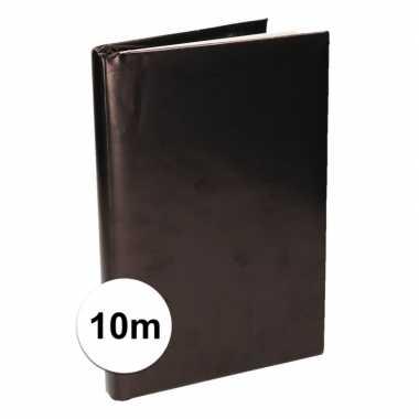 Zwart inpakpapier voor boeken 10 meter