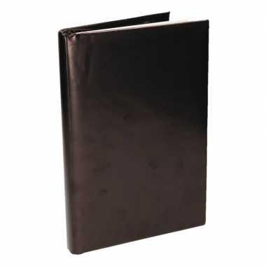 Zwart inpakpapier voor boeken 200 cm