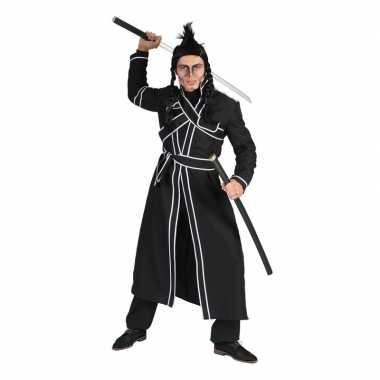 Zwart japanse vechtsport verkleed kostuum voor heren
