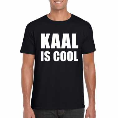 Zwart kaal is cool shirt voor heren