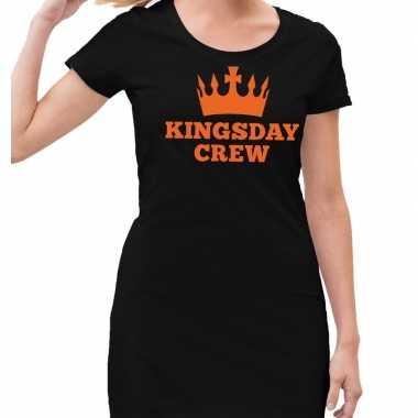 Zwart kingsday crew jurkje voor dames