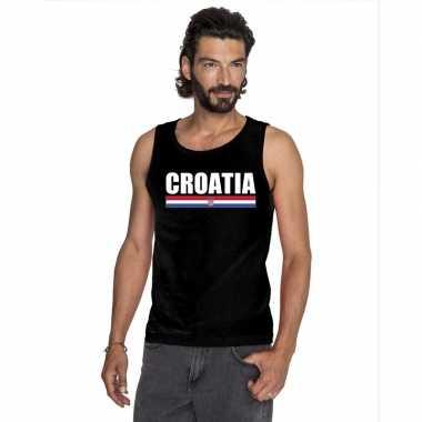 Zwart kroatie supporter singlet shirt/ tanktop heren