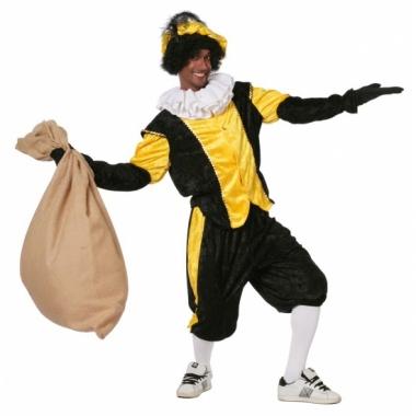 Zwart met geel pieten pak