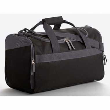 Zwart met grijze sporttas 23 liter