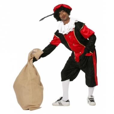Zwart met rood pieten pak
